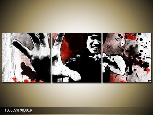 Obraz s hodinami Bruce Lee