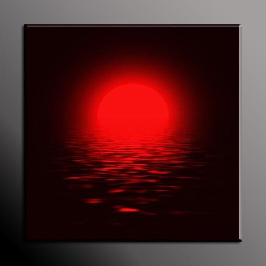 Obraz do bytu červené slunce