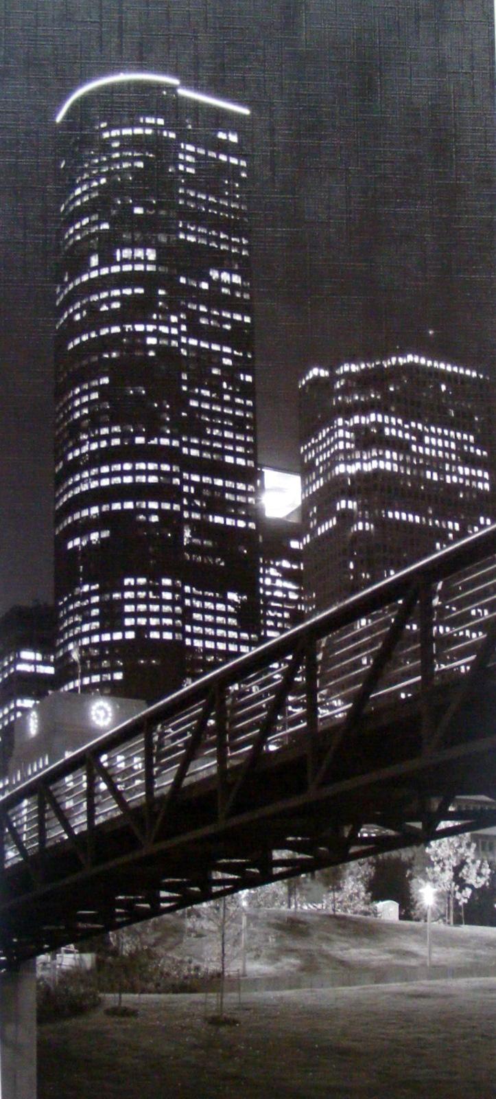 Černobílý obraz mrakodrapů