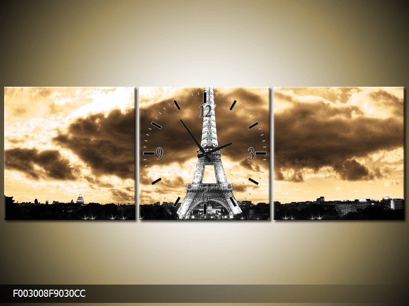 Obraz s hodinami Eifelovka
