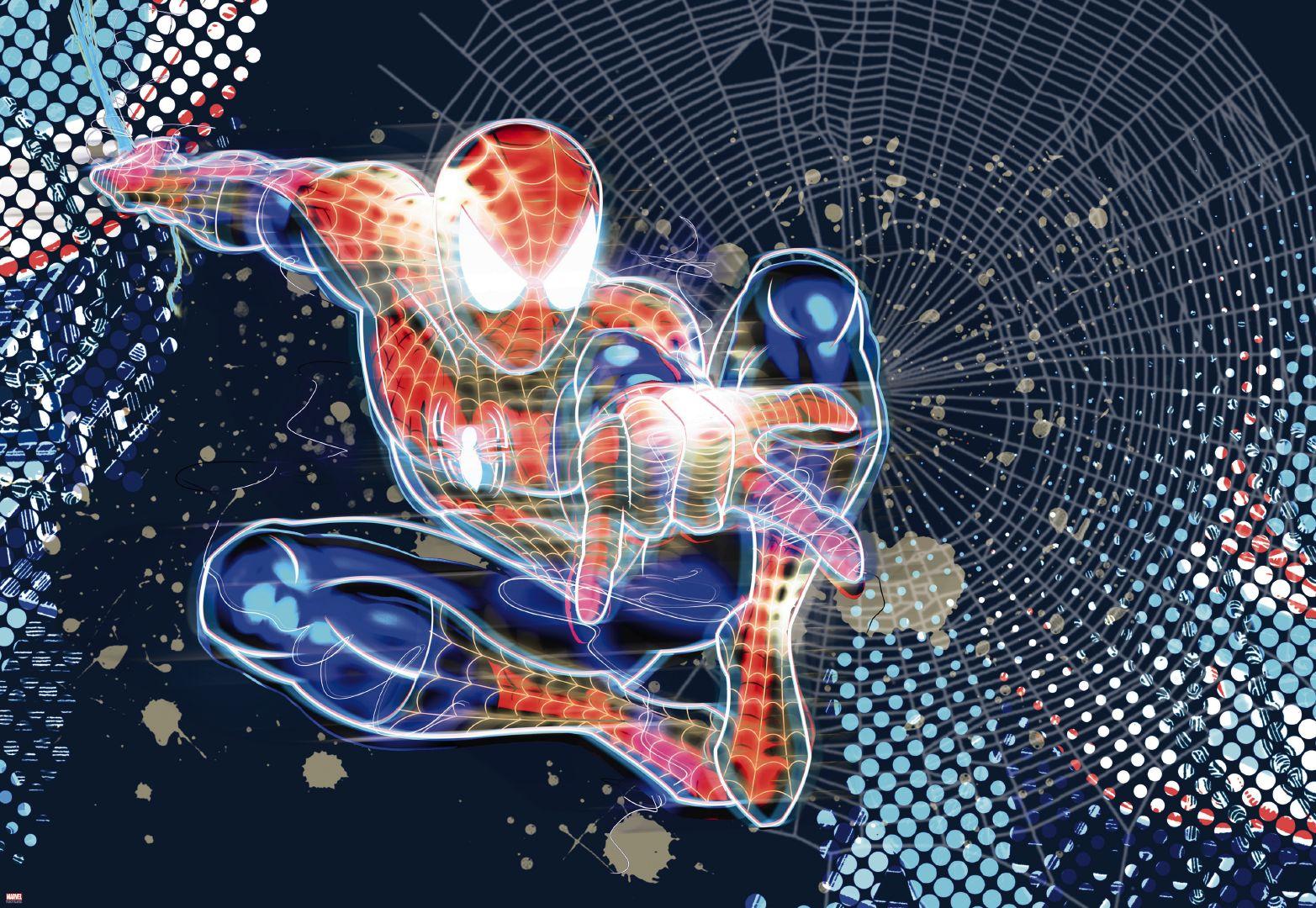 Fototapeta jednodílná - Neon Spiderman