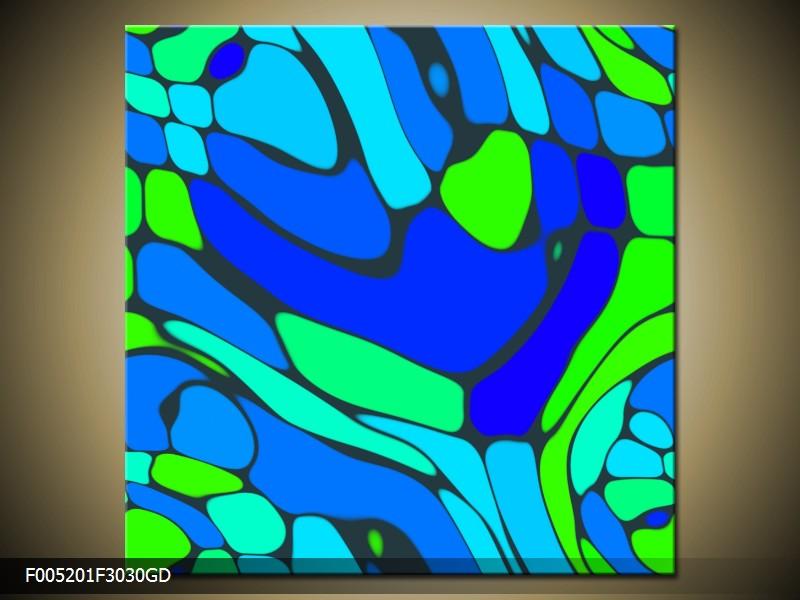 Obraz na skle zeleno modrá abstrakce