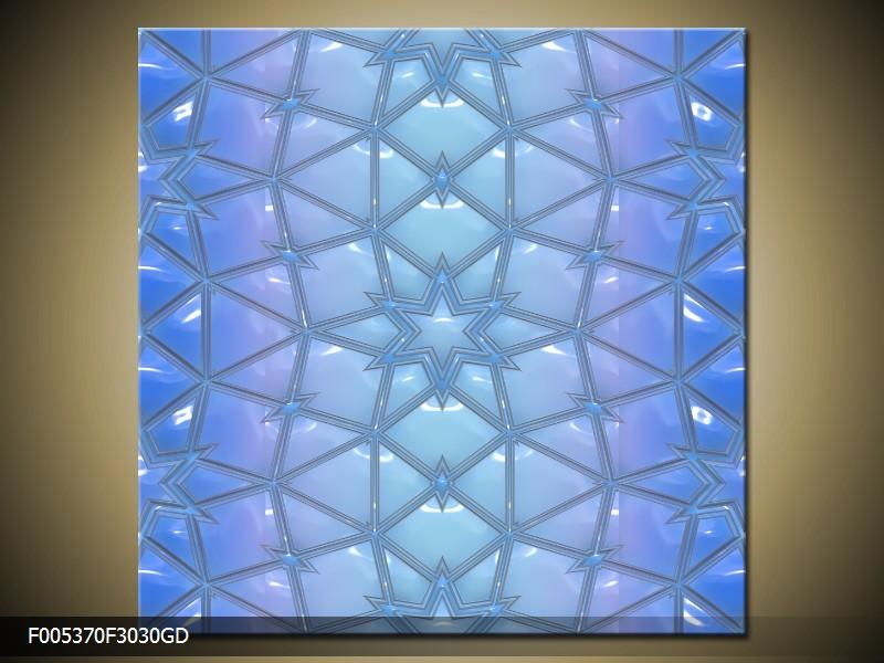 Obraz na skle modrá abstrakce