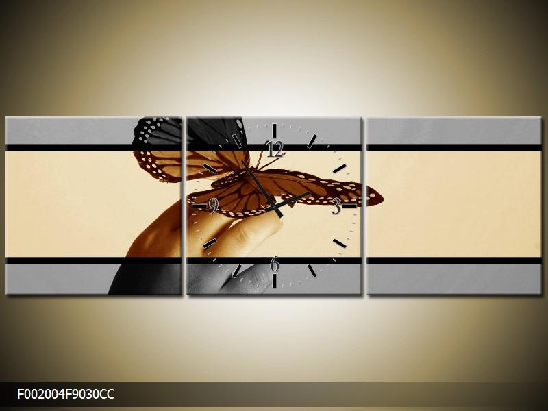 Obraz s hodinami motýl