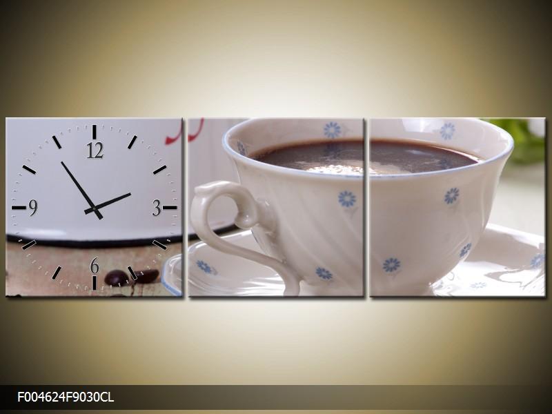 Obraz s hodinami kuchyňské zátiší