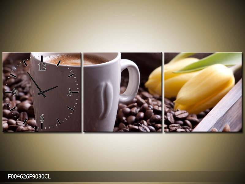 Obraz s hodinami kuchyňský