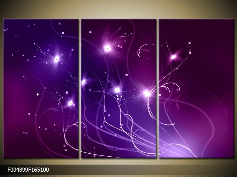 Obraz do bytu fialová abstrakce