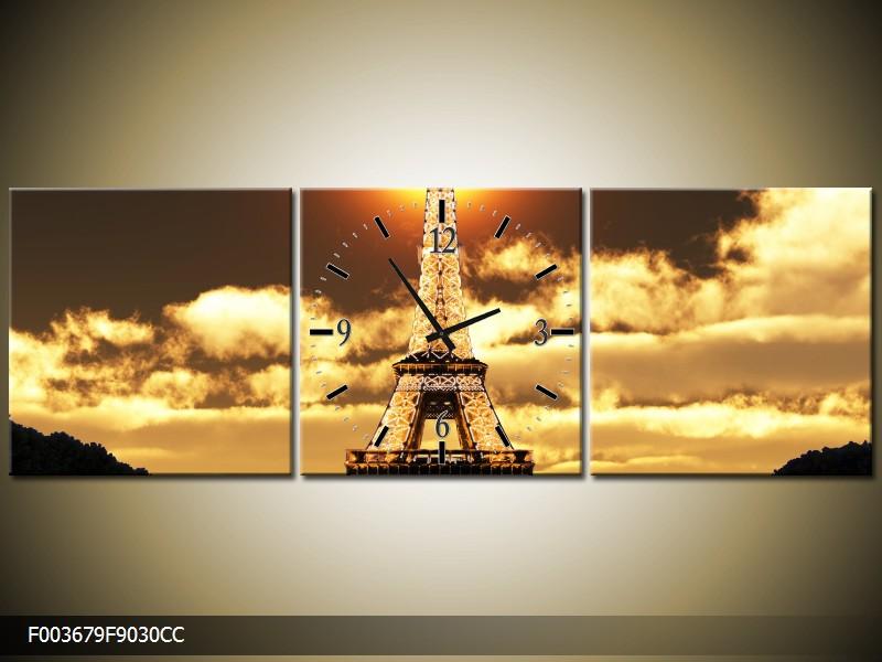 Obraz s hodinami Paříž
