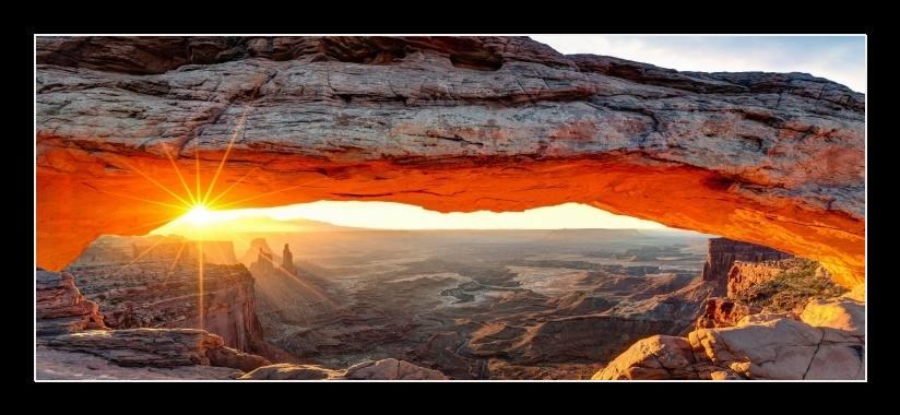 Obraz na stěnu slunce ve skalách