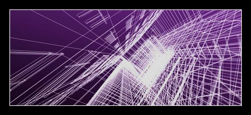Obraz na zeď fialová abstrakce