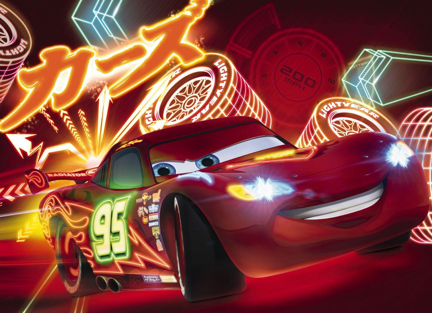 Fototapeta čtyřdílná - neon Cars