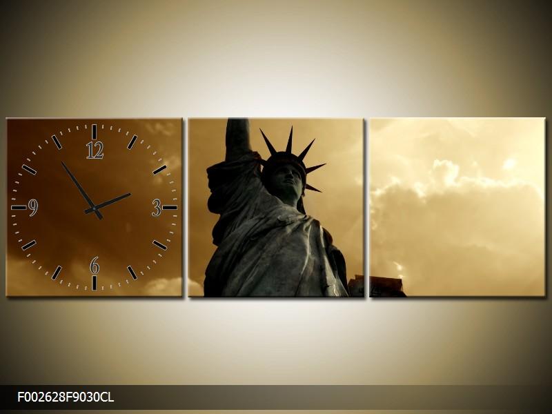 Obraz s hodinami Socha svobody