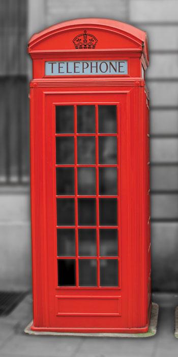 Vliesová fototapeta jednodílná - telefonní budka