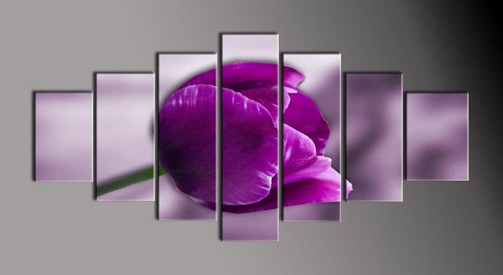 Obraz na plátně fialový tulipán