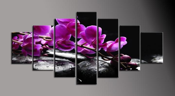 Obraz na plátně fialová orchidej