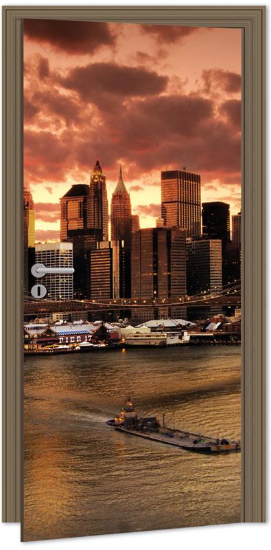 Samolepící fototapeta na dveře - New York