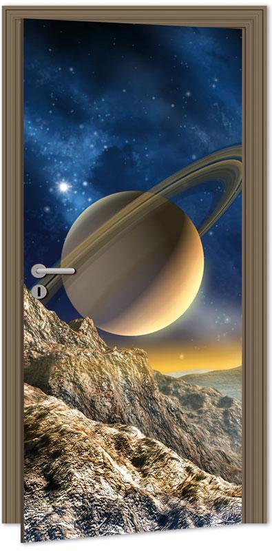 Samolepící fototapeta na dveře - vesmír