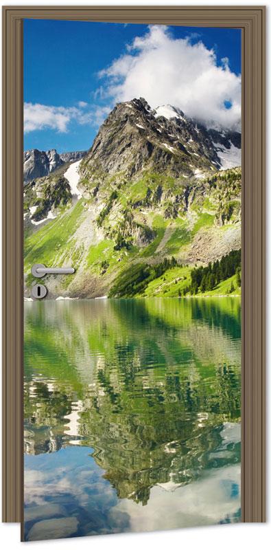 Samolepící fototapeta na dveře - jezero