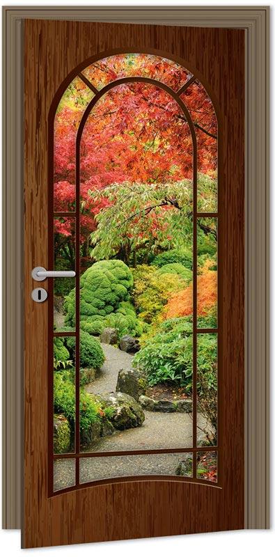 Samolepící fototapeta na dveře - zahrada