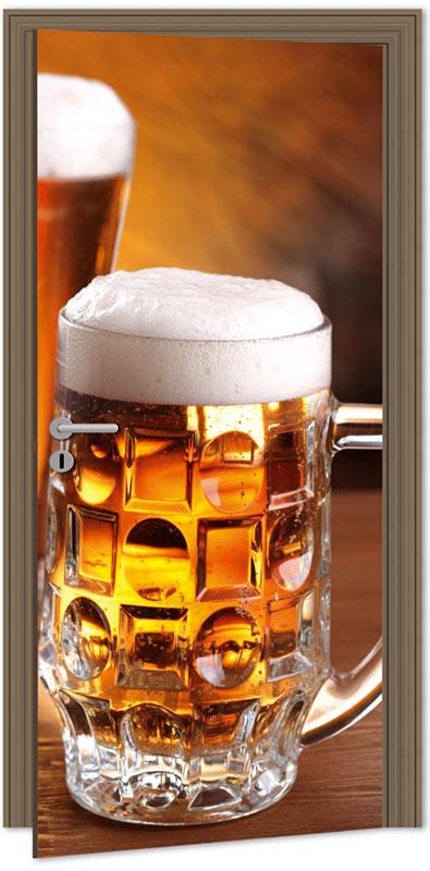 Samolepící fototapeta na dveře - pivo