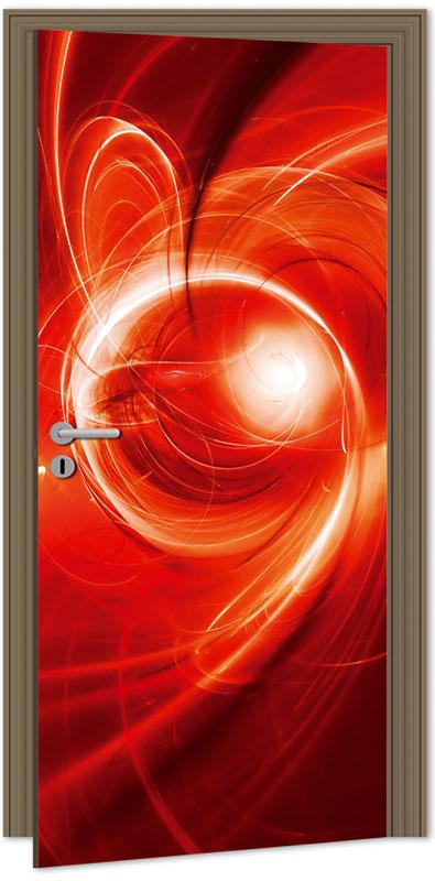 Samolepící fototapeta na dveře - červená abstrakce