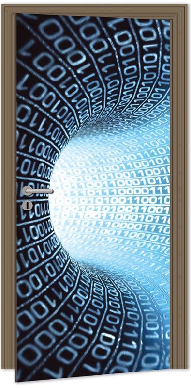 Samolepící fototapeta na dveře - abstrakce