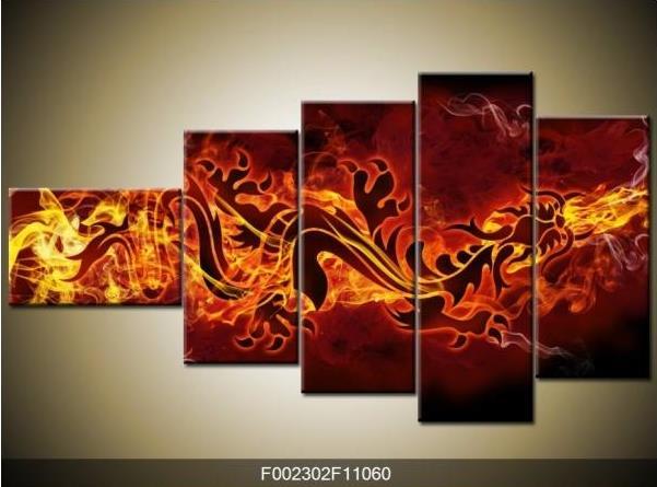 Obraz drak a oheň
