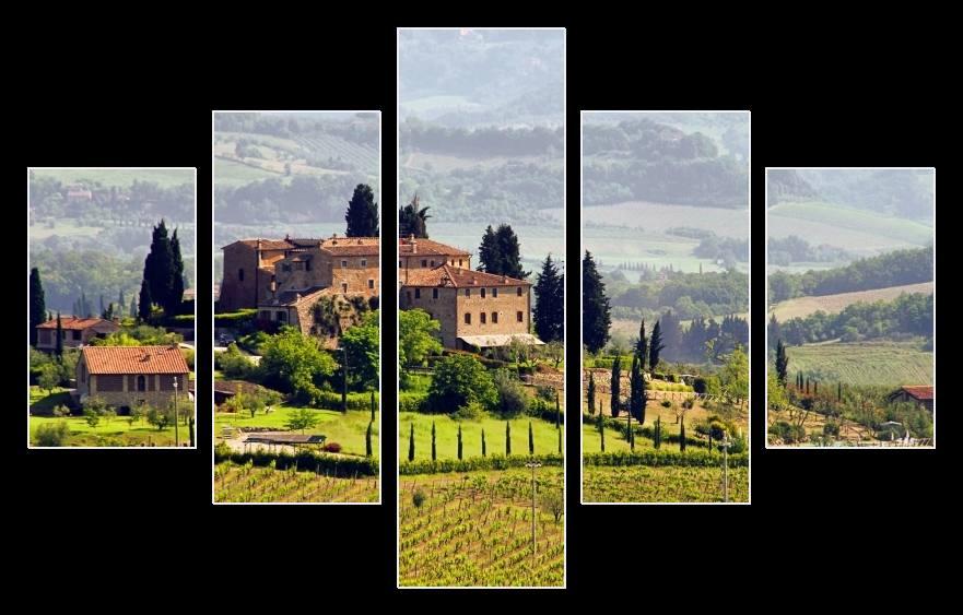 Obraz na stěnu vinice v Toskánsku