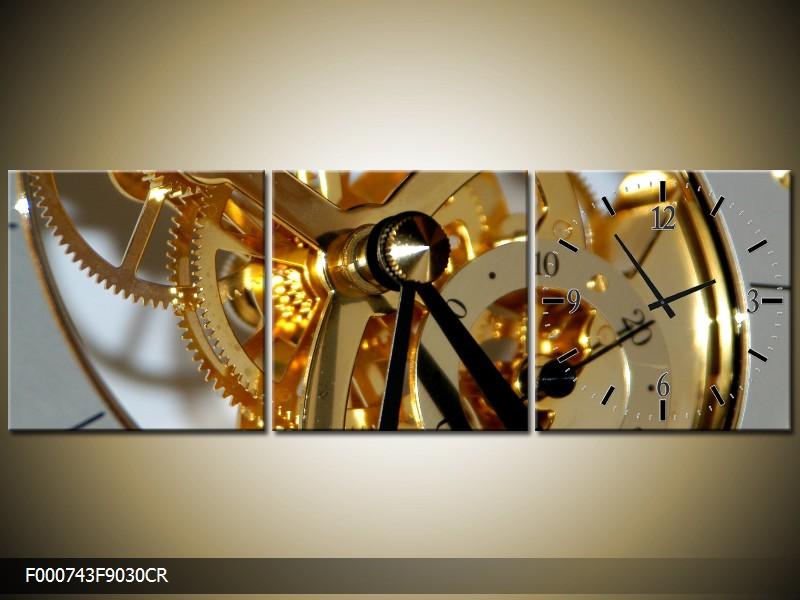 Obraz s hodinami hodinový strojek