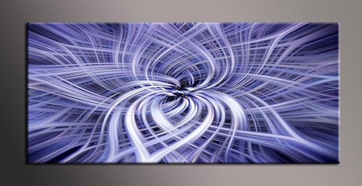 Obraz na zeď fialový abstrakt květ