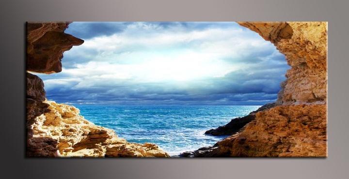 Obraz na zeď skály u moře