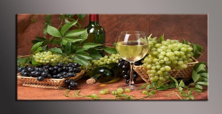 Obraz do bytu zátiší s vínem