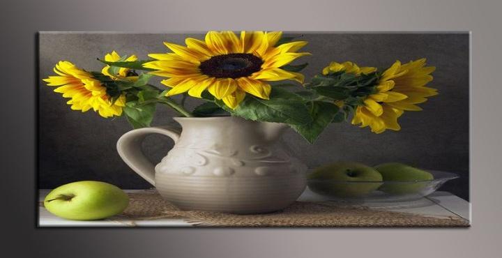 Obraz na plátně slunečnice ve váze
