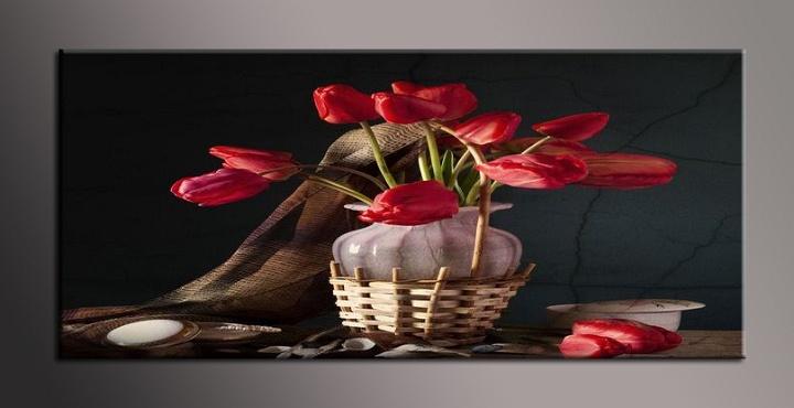 Obraz do bytu květy ve váze