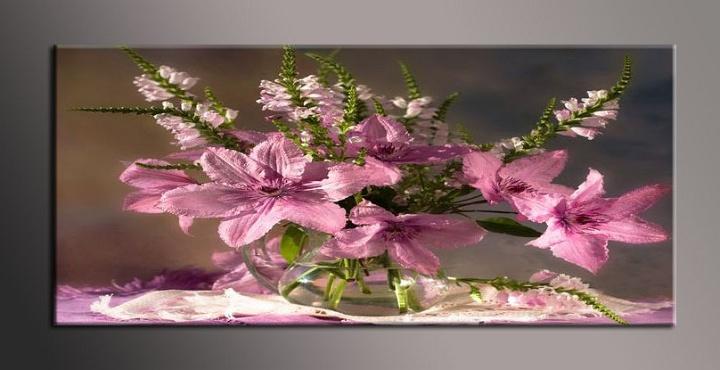 Obraz na zeď květiny ve váze