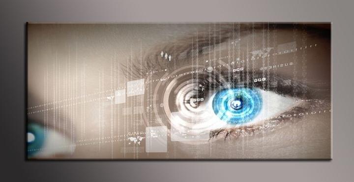 Obraz do bytu moderní oko