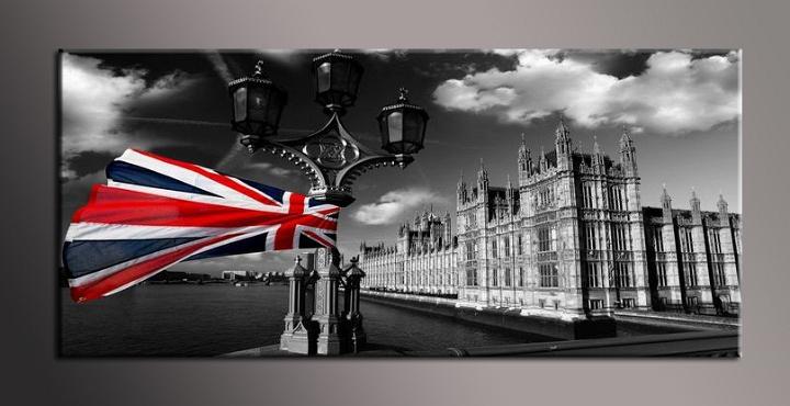 Černobílý obraz Londýn