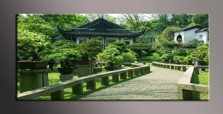 Obraz na plátně zahrada
