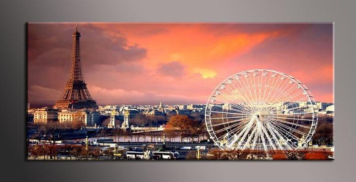 Jednodílný obraz Paříž