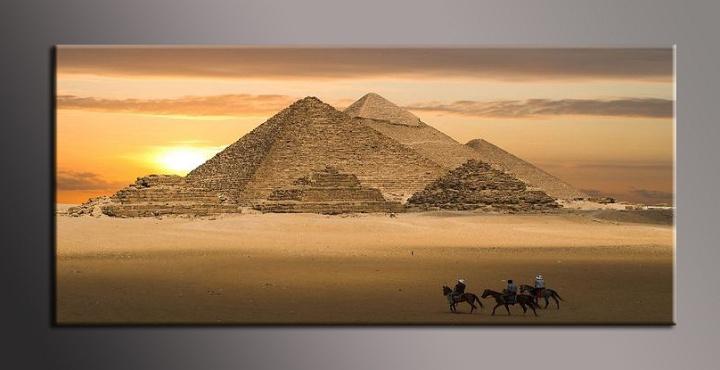 Obraz na plátně pyramidy