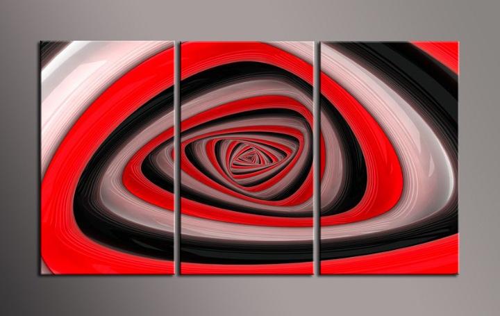 Obraz na stěnu červeno černá abstrakce
