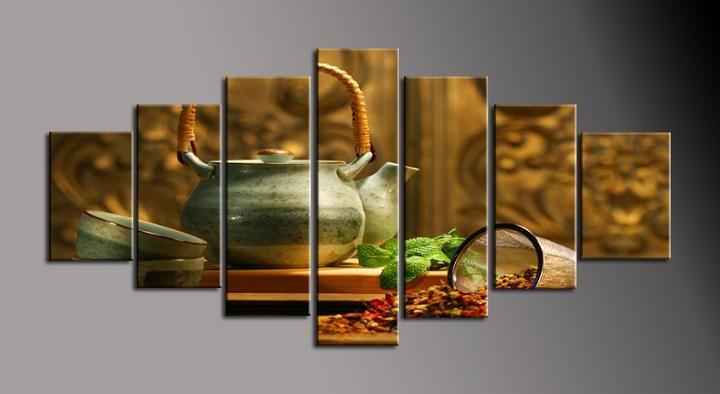 Obraz na plátně zátiší s čajem