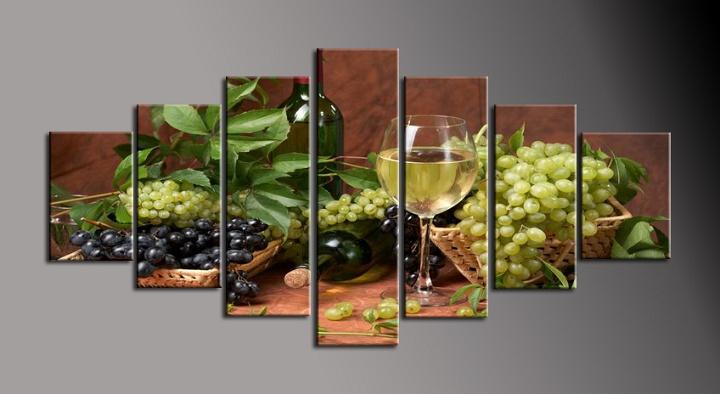 Obraz na plátně zátiší s vínem