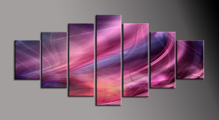 Obraz na plátně růžovo fialová abstrakce