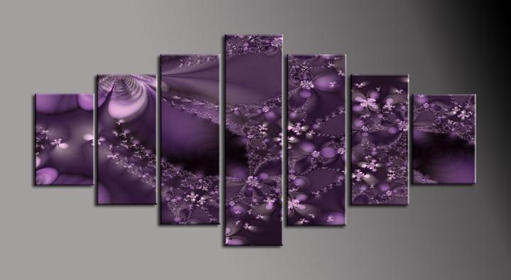 Obraz na plátně fialová abstrakce