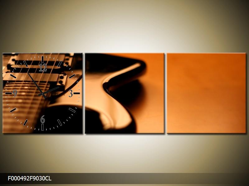 Obraz s hodinami elektrická kytara