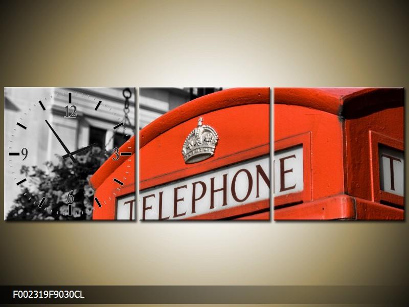Obraz s hodinami londýnská telefonní budka