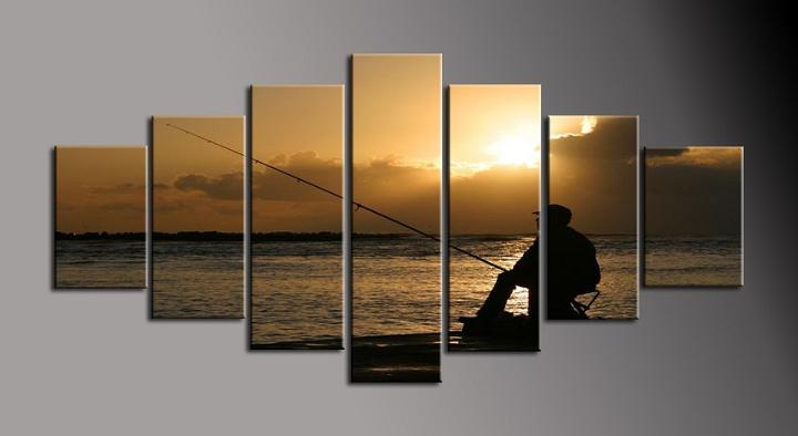 Obraz do bytu rybář