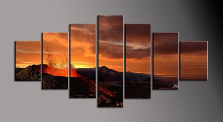 Obraz do bytu sopka