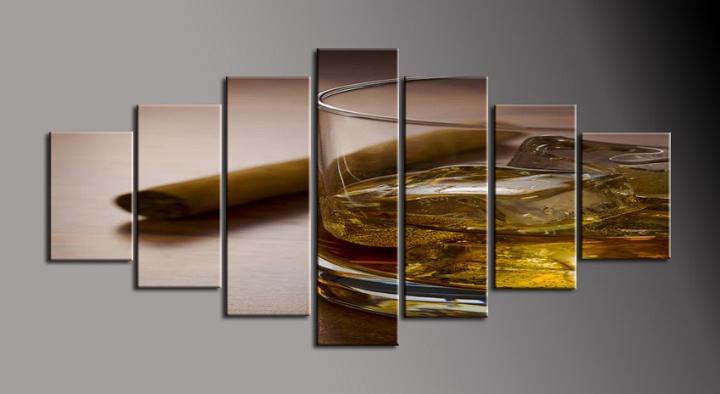 Obraz na stěnu doutník a whiskey
